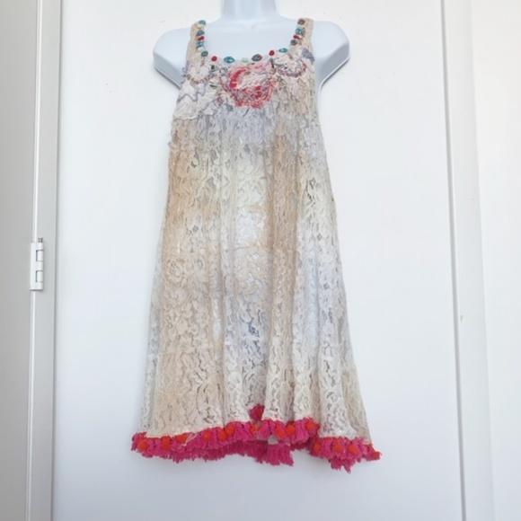 Antica Sartoria Other - NWT Antica Sartoria Lace Boho Dress/Tunic/Coverup
